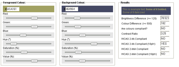 Color Contrast Check Tool