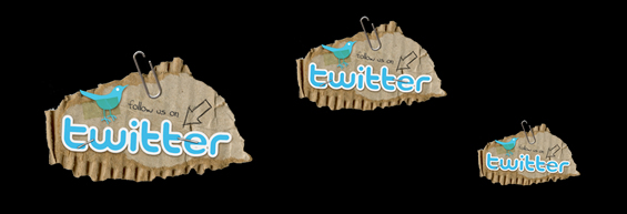 Grunge Twitter Badge von graphicleftovers