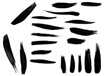 20 Painted Photoshop Brushes